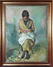 PORTRAIT OF THE ARTIST'S MOTHER. OIL ON CANVAS. FRANCESC DOMINGO. SPAIN. 1941-19