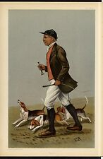 FOX HUNTER AND DOGS CARICATURE OTTO PAGET HUNTING WITH BEAGLES HUNT DECORATIVE