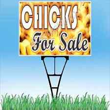 "18""x24"" CHICKS FOR SALE Outdoor Yard Sign & Stake Sidewalk Lawn Sales Farm Ranch"
