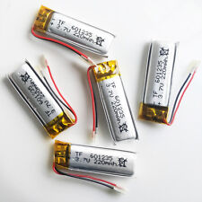 5 pcs 3.7V 220mAh Li-Polymer Battery cell For Mp3 bluetooth PSP headphone 601235