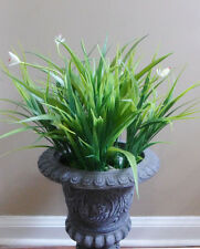4 Artificial Plastic Blooming Orchid Grass Home Garden Bushes Plants