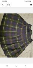 George Girls Plaid Skirt Size 8 Navy Blue Red Yellow Green