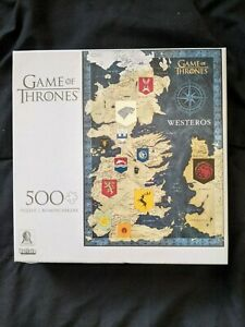 Buffalo Games - Game of Thrones - Map of Westeros - 500 pc puzzle NEW