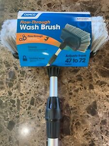 "Car Wash Brush 72"" Telescoping Handle Soft Cleaning Head RV Truck Wash Trailer"