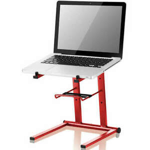 L1 Laptop Stand DJ Producer Foldable Solid Steel Red Lightweight shelf dvs
