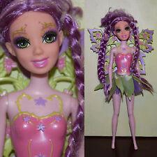 "Mattel Fairytopia Barbie 10.5"" Glee Doll Magic of the Rainbow Lavender Fairy"