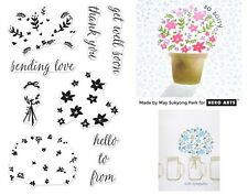 Hero Arts Clear Stamps - Colour Layering Bouquet - Flowers, Get Well