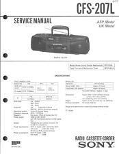 Sony Original Service Manual für CFS-207L