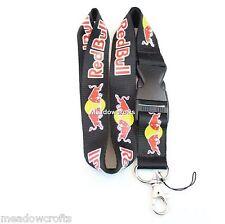 Red Bull Cordón Nuevo Negro-Reino Unido Vendedor-Correa de Llavero ID Holder Teléfono del Coche