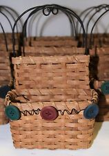 Crafts - Lot of 25 Wicker Craft Baskets - Wood Hearts, Buttons & Moose