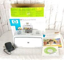 HP Photosmart A616 Compact Photo Printer w CD & Manual Adapter