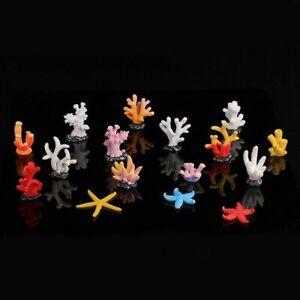 10X Polyresin Mini Coral Reef Fish Tank Aquarium Home Decor Ornament Simulation
