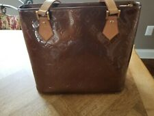 Authentic Louis Vuitton Vernis Bronze Houston Handbag in Mint Condition