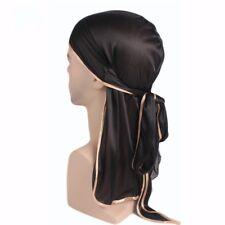 Men Hip Hop Durag  do doo du rag Turban Bandana Women Long Tail Wrap Headscarf