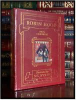 Robin Hood Illustrated by N.C. Wyeth Sealed Easton Press Leather Bound Hardback