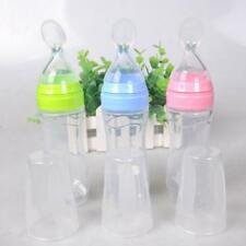 Feeding Bottle 120ml Rice Paste Soft Spoon Silicone Baby Kids Infant Care Scoops