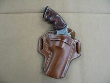 "Colt Python Revolver 4"" Barrel Leather 2 Slot Pancake Belt Holster CCW TAN RH"