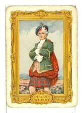 "Single Vintage Wide Playing Card, ""Scotsman"" DeWar's Whisky"