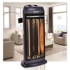 Infrared Electric Quartz Heater Living Room Space Heating Radiant Fire Tower