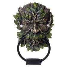 Wildwood SPIRITO DELL'ALBERO ANTERIORE DOOR KNOCKERS Verde Uomo Gotico vecchio vintage antico
