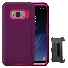 For Samsung Galaxy S8 / S8 Plus Defender Case cover [ Belt Clip Fits Otter Box ]