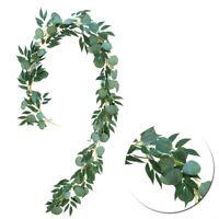 2Meter Artificial Eucalyptus Leaves Vine Greenery Garland Wedding Party Roo L9K4