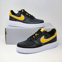 Nike Womens Air Force 1 SE Black Satin NSW Wheat Gold sz 8 AA0287-005 EUR 39