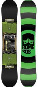 Rome SDS Agent Men's Snowboard, Size 160 cm, True Twin, New 2021