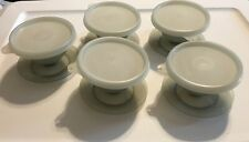 Tupperware Pudding Parfaits Desserts Cups Dishes With Lids 754-27 Lot Of 5 VTG