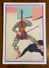 Milton Glaser Lithograph Brooklyn Center Performing Arts 30th Anniversary