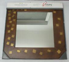"New Threshold Quality & Design Wall Mirror -Walnut Finish- 20"" X 20"" - Brown -"