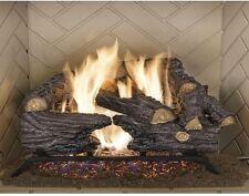 Split Oak Vented Natural Gas Log Set Emberglow Fireplace Realistic Dancing Flame
