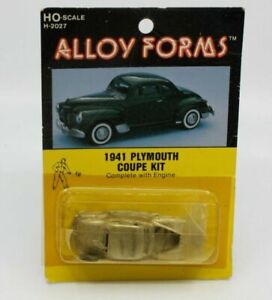 Alloy Forms H-2027 Ho Scale 1941 Plymouth Coupe Die Cast Kit W/ Engine
