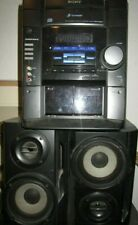 New listing Sony Mhc-Rg20 3-Cd Changer Stereo Deck Receiver Cassette Am/Fm W/ Speakers !