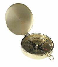 Taschen Kompass im Marine Stil mit Klappdeckel, Deko-Kompass Messing poliert