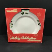 Christopher Radko HOLIDAY CELEBRATIONS Accent Salad Plates Set of 4 Christmas