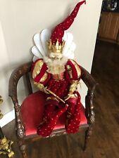 Mark Roberts King Of Hearts Christmas Santa Fairy 50� Tall Rare