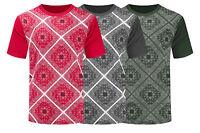 NEW Men Bandana Print Short Sleeve Shirt Short Sleeve Shirts Sizes S-2XL 3 Color