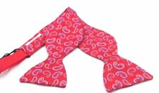 $200 TURNBULL AND ASHER Men`s PAISLEY RED BLUE WHITE BOW TIE ADJUSTABLE BOWTIE