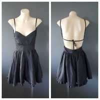 ASK GRACE Black Party Dress With Frill And Netting Detail Size 8