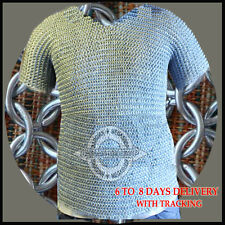 BUTTED ALUMINIUM CHAINMAIL SHIRT ALUMINUM CHAIN MAIL HAUBERGEON MEDIEVAL ARMOUR.