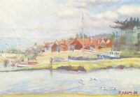 Art Postcard, Brancaster Staithe Quay, Norfolk by Julie Adams 35R