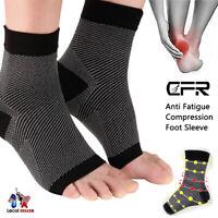 Pair Compression Socks Plantar Fasciitis Arch Ankle Running Support Men Women HG