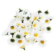 100Pcs Artificial Daisy Bridal Wedding Bouquet head Fake Silk Flower Party Decor