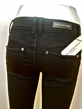 BNWT £195 BURBERRY SKINNY JEANS-BLACK MID RISE SMART JEANS --UK-4/6 W24
