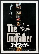 THE GODFATHER MARLON BRANDO COPPOLA 1972 JAPANESE MOVIE POSTER LINENBACKED