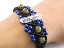 Lemurian Seed Quartz Crystal DT Point Lapis lazuli Labradorite Healing  Bracelet
