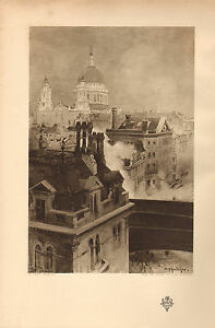 1902 Studio Aufdruck ~ St.PAUL'S Kathedrale Von Tony Grubhofer