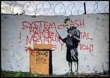 BANKSY grandes Graffitti lema Vinilo, Pared, Auto, Camioneta, calcomanía / etiqueta adhesiva.