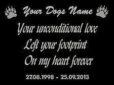 Personalised Dog, Pet Memorial Garden Plaque, In Memory Of